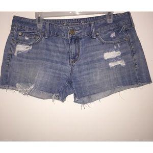 American Eagle Denim Shorts, Distressed